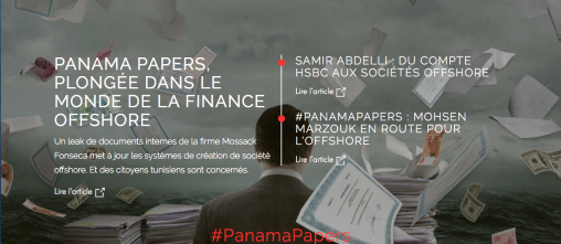 Screenshot www.inkyfada.com zu den Panama Papers und Korruption in Tunesien